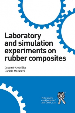 Laboratory and simulation experiments on rubber composites